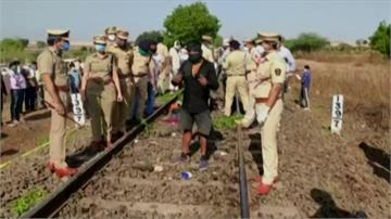16印度失業工人徒步返鄉睡鐵軌 清晨遭火車撞死
