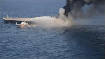 巴拿馬籍油輪「新鑽石號」引擎室鍋爐爆炸起火