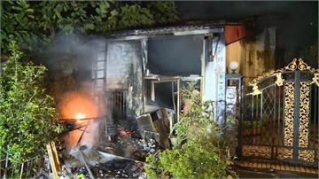 新北土城暗夜火警 民宅堆滿資收物火勢沖天