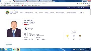 印尼78歲橋藝選手奪銅 身份是千億首富