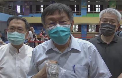 快新聞/台北85歲以上打疫苗 柯文哲呼籲:時間到再來、不要浪費時間排隊
