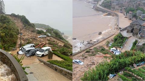 歷年最大雨降馬祖!芹壁村土石坍方沖毀民宅 人車泡50公分黃泥水