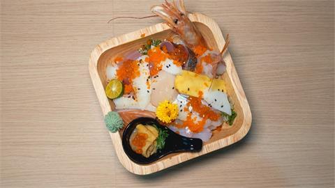 生魚片丼一碗九種海鮮 口感豐富配色繽紛