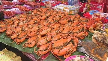 普渡痛風桌 爐主備88隻紅蟳 16隻龍蝦 大白鯧