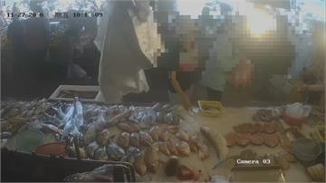客人遺留豬肉在魚攤 婦人路過順手摸走