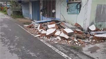 東北風豪雨狂瀉!花蓮民宅牆壁倒 台九丁線岩壁坍塌