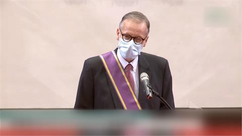 卸任前獲蔡總統授勳 AIT處長酈英傑:台灣永遠不會離開我