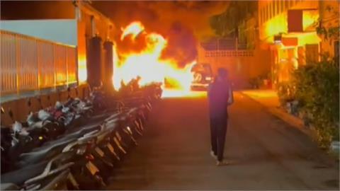 台中暗夜惡火燒毀20汽機車 警3小時後在公墓逮縱火街友