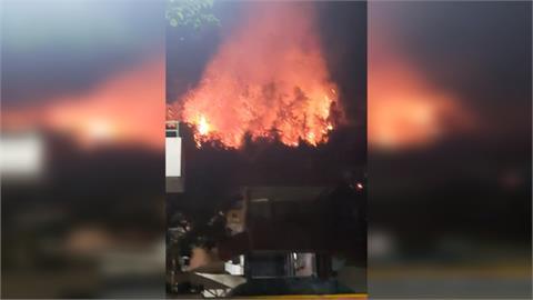 森林大火逼近學校圍牆 魚池國中周二停課不停班