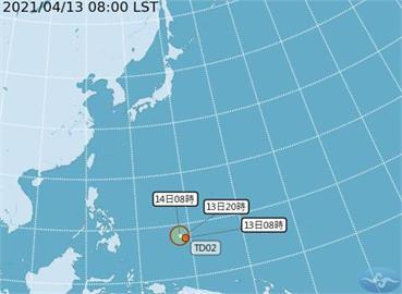 快新聞/熱帶性低氣壓今早生成! 最快明增強為颱風 氣象局曝降雨狀況