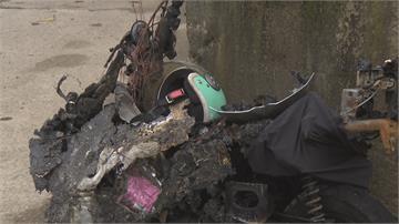 碰!樹林轎車右轉撞機車 油箱破裂瞬間起火! 騎士22%燒傷