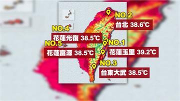 花蓮今高溫飆到39度 氣象局:未來一週持續熱