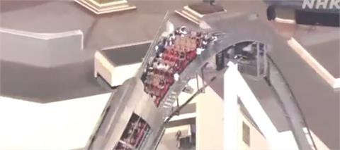 快新聞/驚! 日本環球影城停電 雲霄飛車乘客卡在半空畫面曝光
