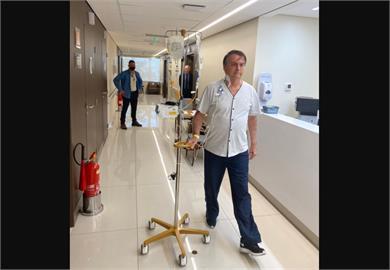 巴西總統出院 治療腸阻塞後盼10天就可吃牛排