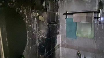 澡洗一半電熱水器變火球 男大生裸身逃
