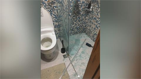 北市萬華青年社宅一期 浴室玻璃無預警碎裂