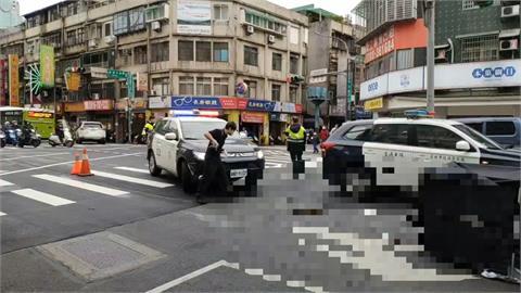公車撞老婦人事故 巨大撞擊聲嚇壞附近居民