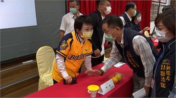 盧秀燕穿兄弟象球衣 主持市政會議挺奪冠