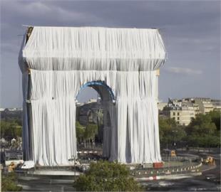 巴黎凱旋門塑膠布裝置藝術 完成大師生前遺願