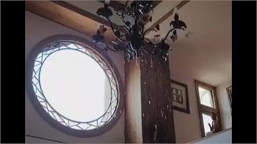 消防管線疑施工破裂!民宅屋內竟「下雨」  裝潢、家具全毀  年節將至屋主超無奈