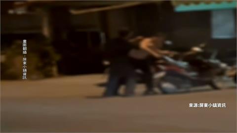 街邊單挑有氣無力 2男疑喝酒像在練「醉拳」