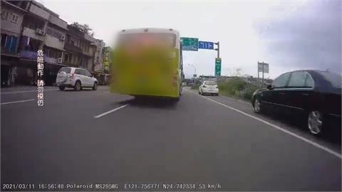 公車開成卡丁車! 司機危險駕駛慘了