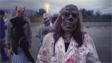 殭屍也戴口罩!萬聖節的遊樂園 嚇人也顧防疫