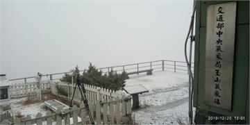 下雪了!東北季風助攻 玉山降下入冬初雪