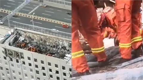 父親節悲歌!中國哈爾濱辦公大樓「天花板坍塌」11人遭活埋2人死亡