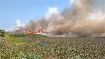 雲林濁水溪河床大火 濃煙遠飄空品差