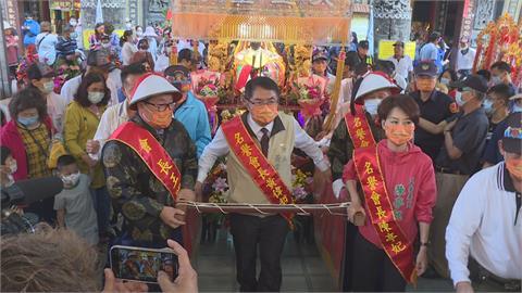 台南正統鹿耳門聖母廟3年一次香醮!防疫大作戰 黃偉哲:保佑降甘霖、除疫情