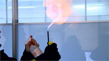 噴酒精遇靜電會起火?消防局親自做實終結流言