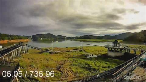潭底大草原到滿水位 縮時攝影紀錄日月潭水位