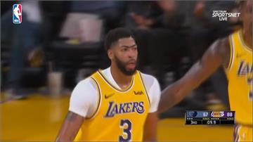NBA/戴維斯狂得40分20籃板 帶領湖人120:91擊敗灰熊