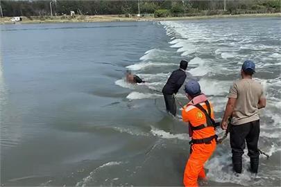 快新聞/驚險! 船員洗網跌落塭仔港 海巡、漁民成功救援