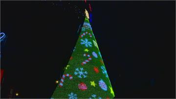 金控集團打造15米LED耶誕樹 溫馨點燈吸睛