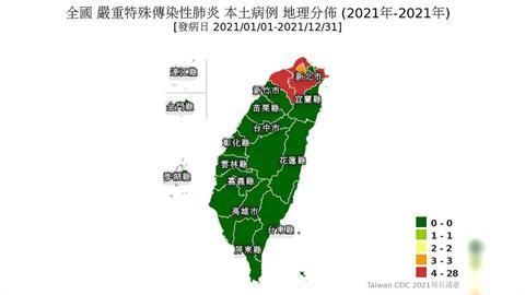 快新聞/確診人數增!本土確診病例地圖「北台灣紅通通」桃園病例最多