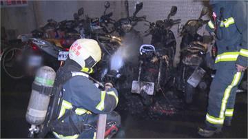 濃煙惡臭驚動住戶...大安區凌晨6機車遭燒成廢鐵