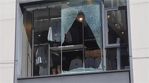 騎樓旁突然天降「碎玻璃」 嚇壞行人