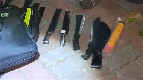男子怕被黑吃黑隨身帶刀械 警逮人搜出毒品