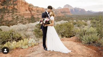 達比修美國補辦婚禮 PO出幸福婚紗照放閃