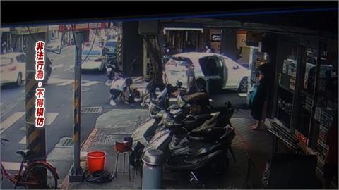延平北路惡煞擄人 男遭強押上車半路跳車逃亡