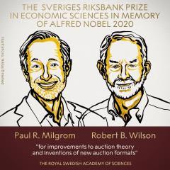 快新聞/諾貝爾經濟學獎揭曉  美國2學者改進「拍賣理論」共享殊榮