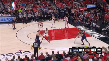 NBA/尤基奇大三元、莫瑞34分 金塊季後賽追平拓荒者