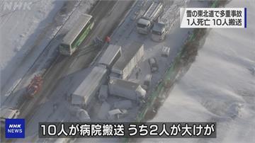 日本暴雪連環車禍多 東北道130輛車回堵