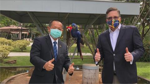 美台關係再升溫!美巴西大使會晤我巴西代表