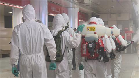 雙北疫情緊張!北市84處人潮聚集交通場所 第六軍團33化學兵群協助消毒