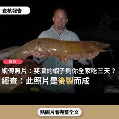 事實查核/【錯誤】網傳照片宣稱「位於南太平洋.紐西蘭的正北方-『斐濟』。『斐濟』的蝦子,別懷疑,就是這麼巨大!一隻就夠妳全家吃三天」?