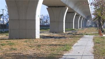 等無停車場!台中鐵路高架橋下荒廢雜草叢生