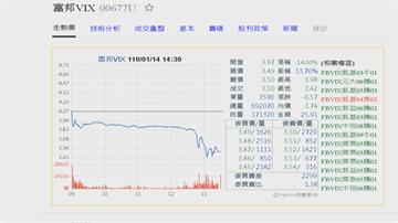 富邦VIX淨值崩跌到2.82元 面臨下市危機